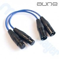 Cable Aune Interconector XLR 25 cms Par
